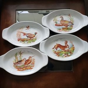 Wildlife themed serving dishes
